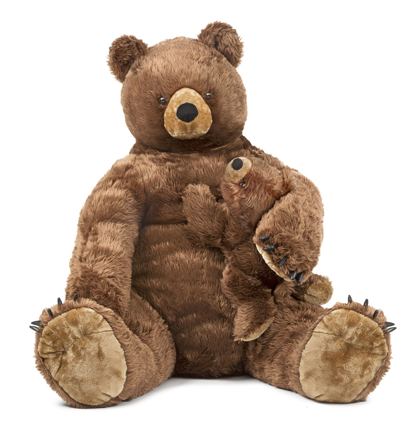Melissa & Doug Brown Bear and Baby - Plush 8835