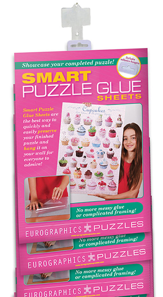 EuroGraphics Puzzles 12-Pack Clipstripof Smart Puzzle Glue Sheets