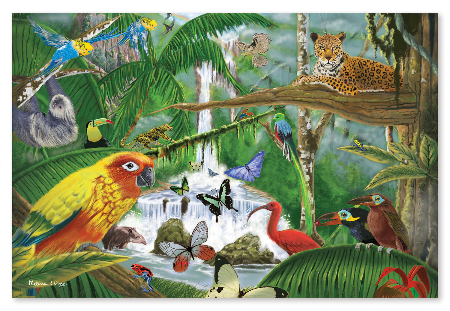 Melissa & Doug Rain Forest Majesty 48pc Floor Puzzle 8902