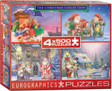 EuroGraphics Puzzles Christmas Collection -4pk / 500pc holiday pzls by Gustafsson