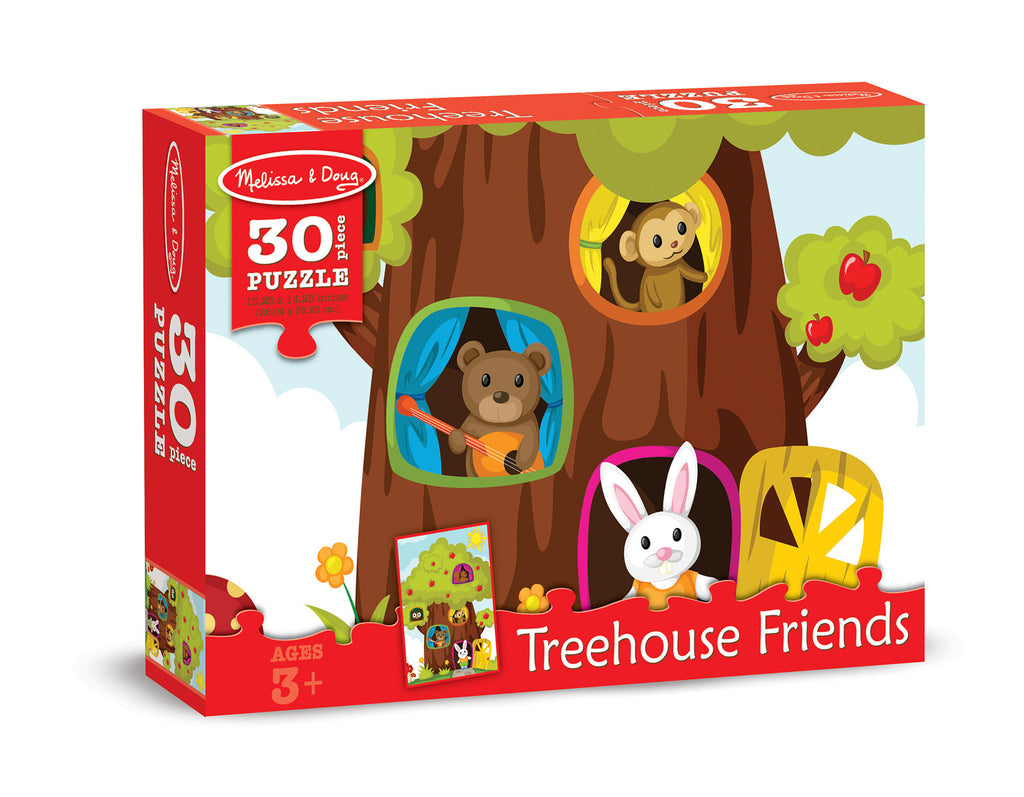 Melissa & Doug 0030 pc Treehouse Friends Cardboard Jigsaw 8922