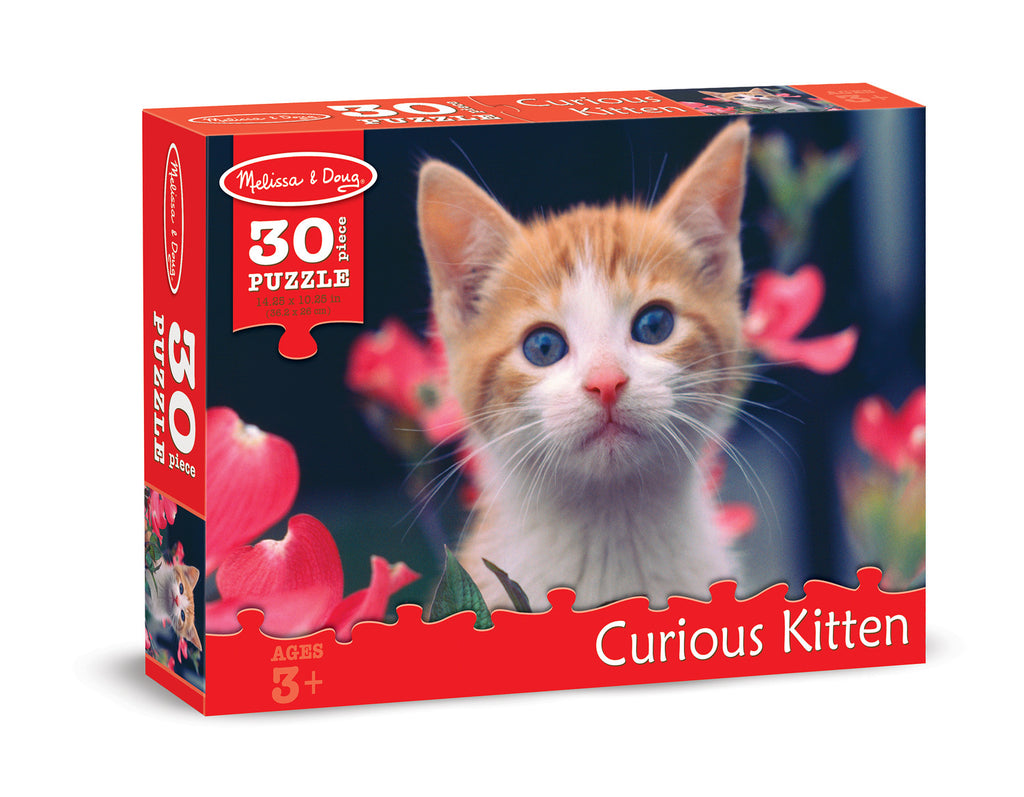 Melissa & Doug 0030 pc Curious Kitten Cardboard Jigsaw 8924