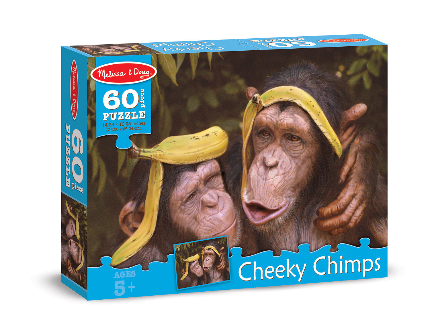 Melissa Doug 0060 pc Cheeky Chimps Cardboard Jigsaw 8932