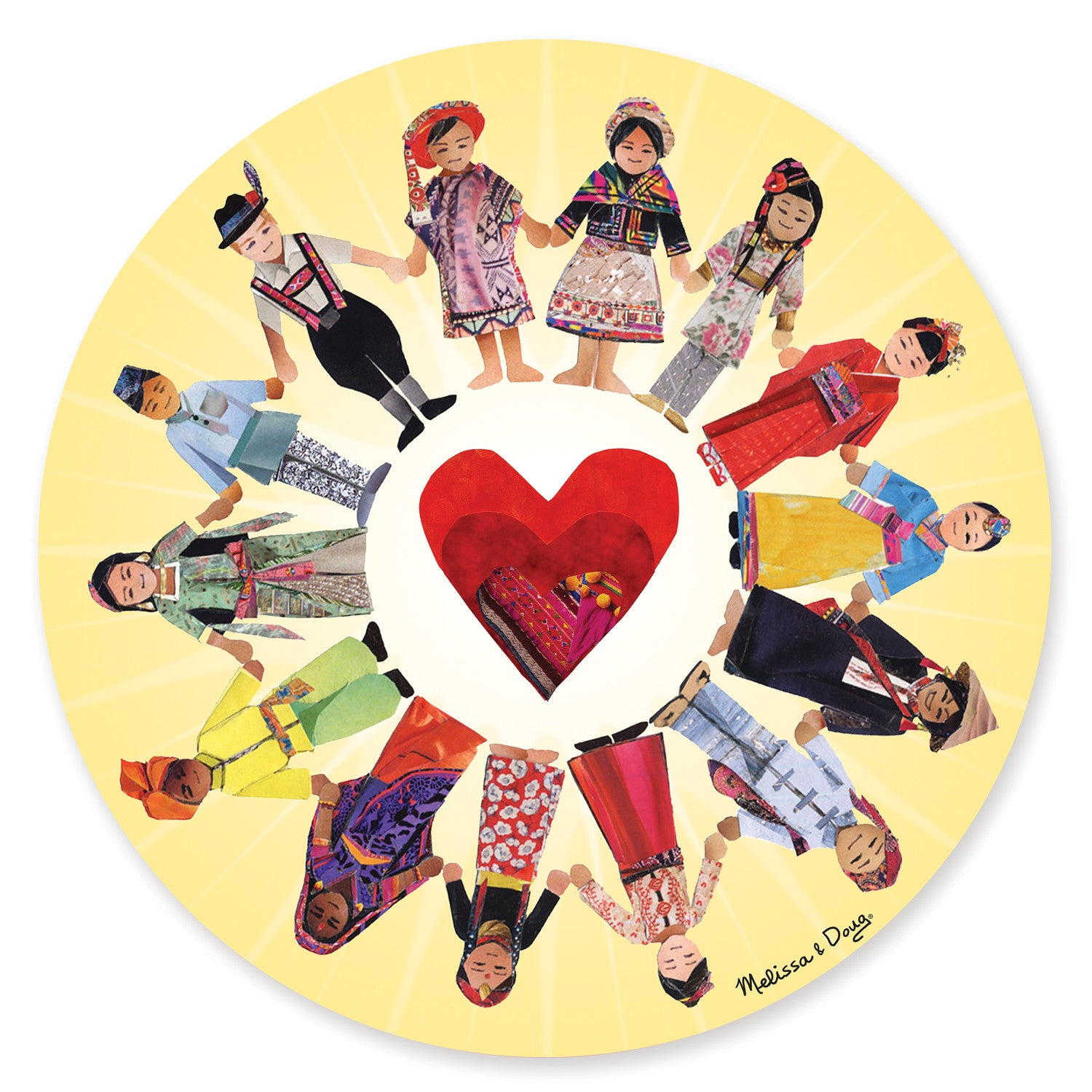 Melissa & Doug 0100 pc Circle of Friends Cardboard Jigsaw 8941