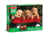 Melissa & Doug 0100 pc Puppy Wagon Cardboard Jigsaw 8945