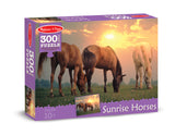 Melissa & Doug 0300 pc Sunset Horses Cardboard 8994