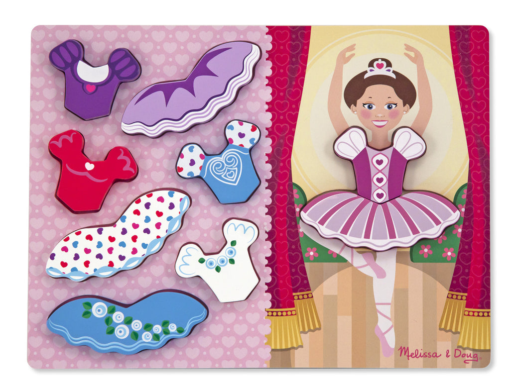 Melissa & Doug Ballerina Dress-Up Chunky Puzzle 9022
