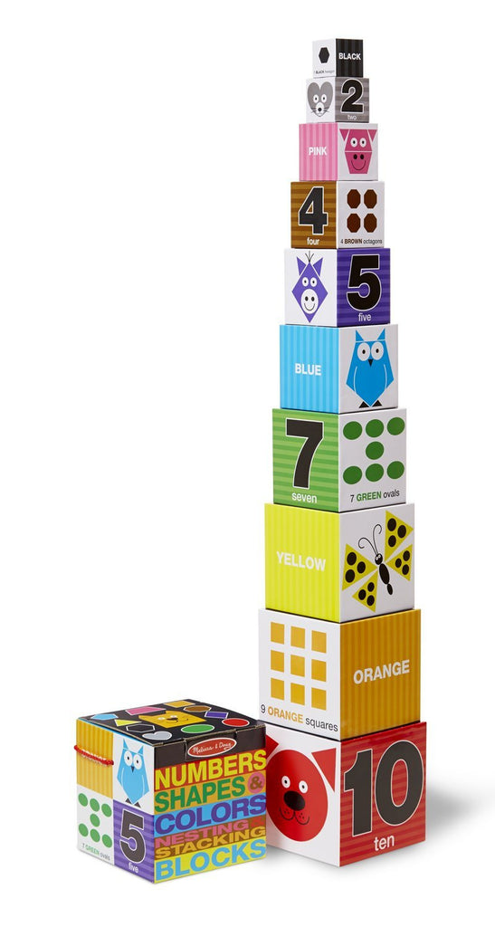 Nesting & Stacking Blocks - Numbers, Shapes, Colors 9042