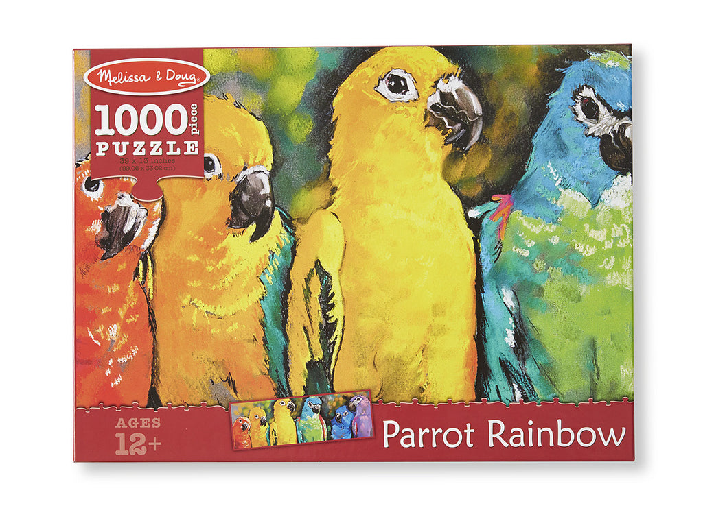Parrot Rainbow Cardboard Jigsaw - 1000 Pieces 9091