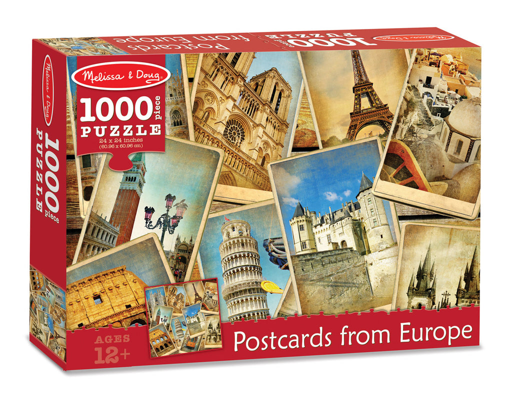 Postcards from Europe Cardboard Jigsaw - 1000 Pieces 9097