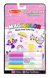 Melissa Doug Magicolor Color-Your-Own Sticker Book - Pink 9131