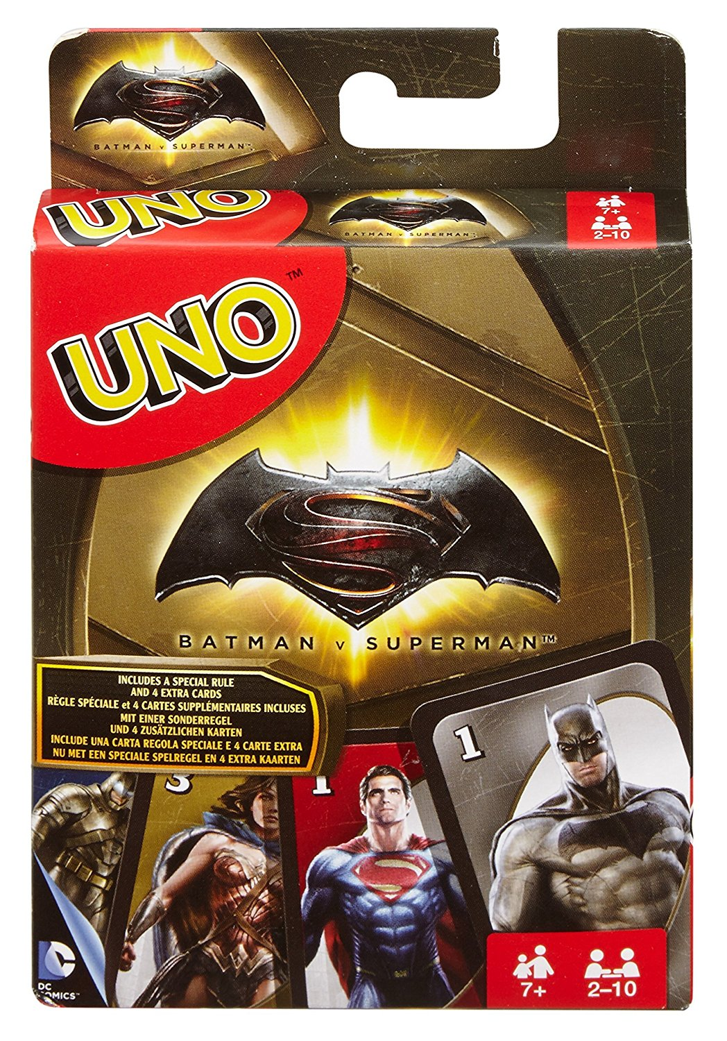Mattel UNO® Batman V Superman Card Game DRL58