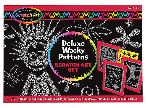 Melissa & Doug Deluxe Wacky Patterns Scratch Art Set