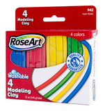 Mattel RoseArt 4-Color Modeling Clay Packaging May Vary 942  CXM77