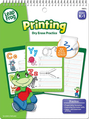 16 Flexible Pages Dry Erase Printing Practice Workbook Grades K-1 by LeapFrog