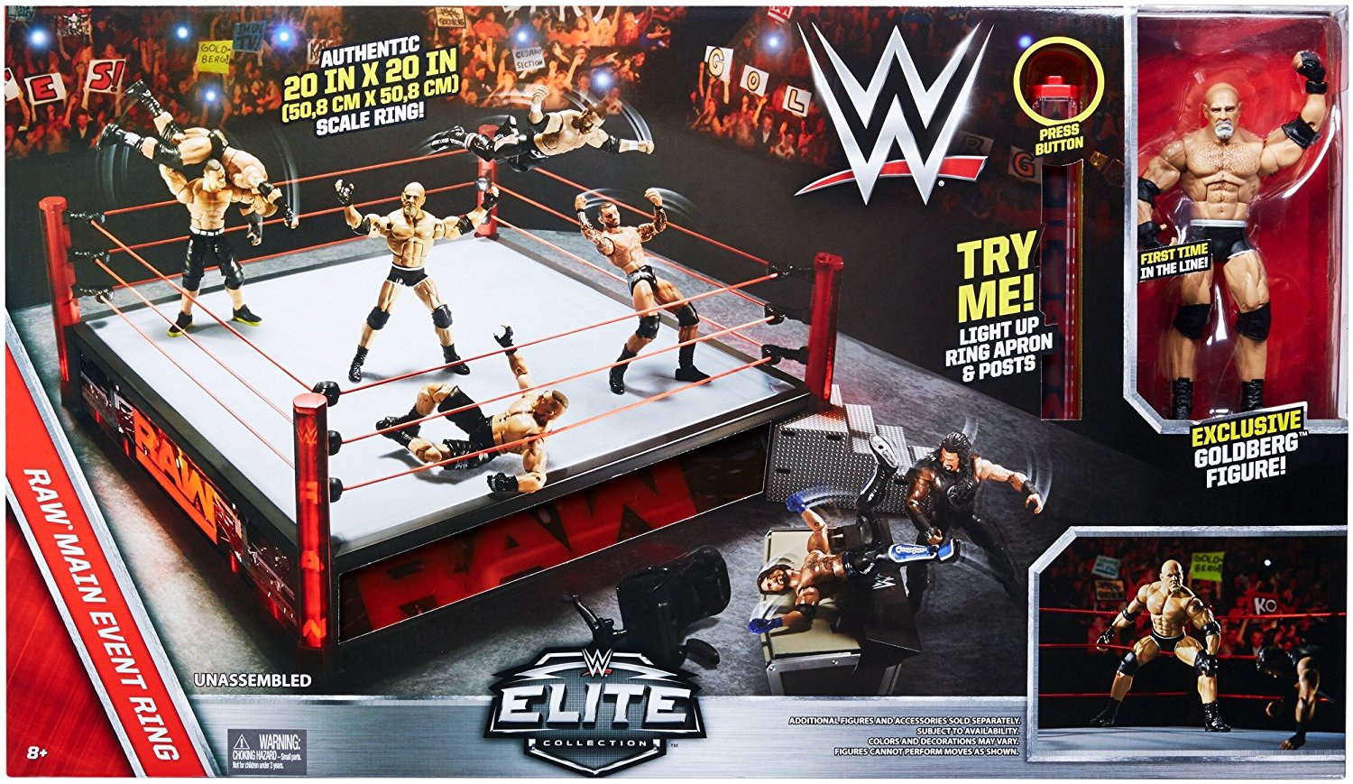 WWE Elite Collection Raw Main Event Ring Playset DXG60
