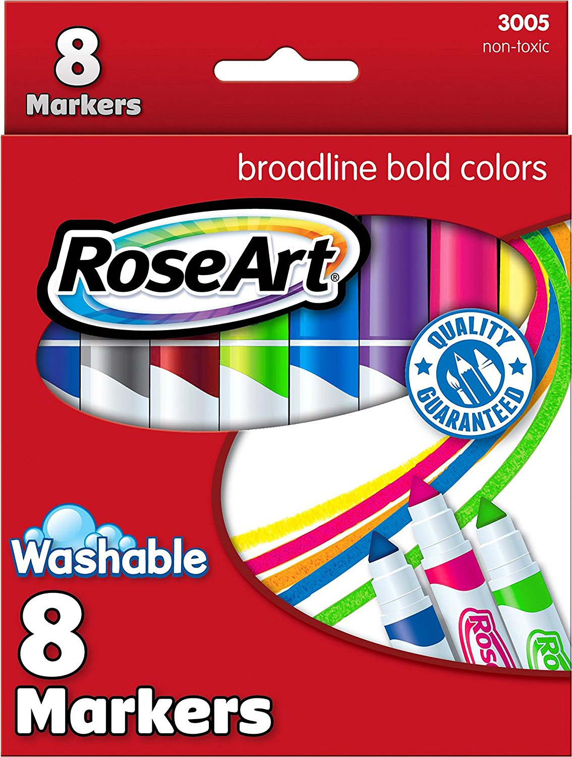 Mattel RoseArt Bold Washable Broadline Markers 8-Count Packaging May Vary CYC13