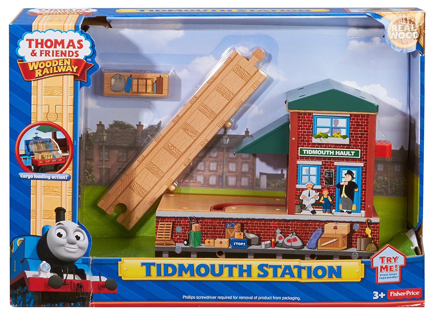 Fisher Price Thomas the Train Wooden Railway Tidmouth Station BDG09