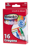 Mattel Rose Art 16-Count Crayons, Packaging May Vary CYV72