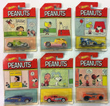 Mattel Hot Wheels PEANUTS Complete Set Of 6 or One Unit DWF03