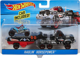 Mattel Hot Wheels Super Rig, Includes 1 Hauling Rig and 1 Vehicle - Styles May Vary BDW51