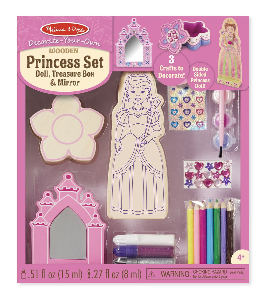 Decorate-Your-Own Wooden Princess Set 9543