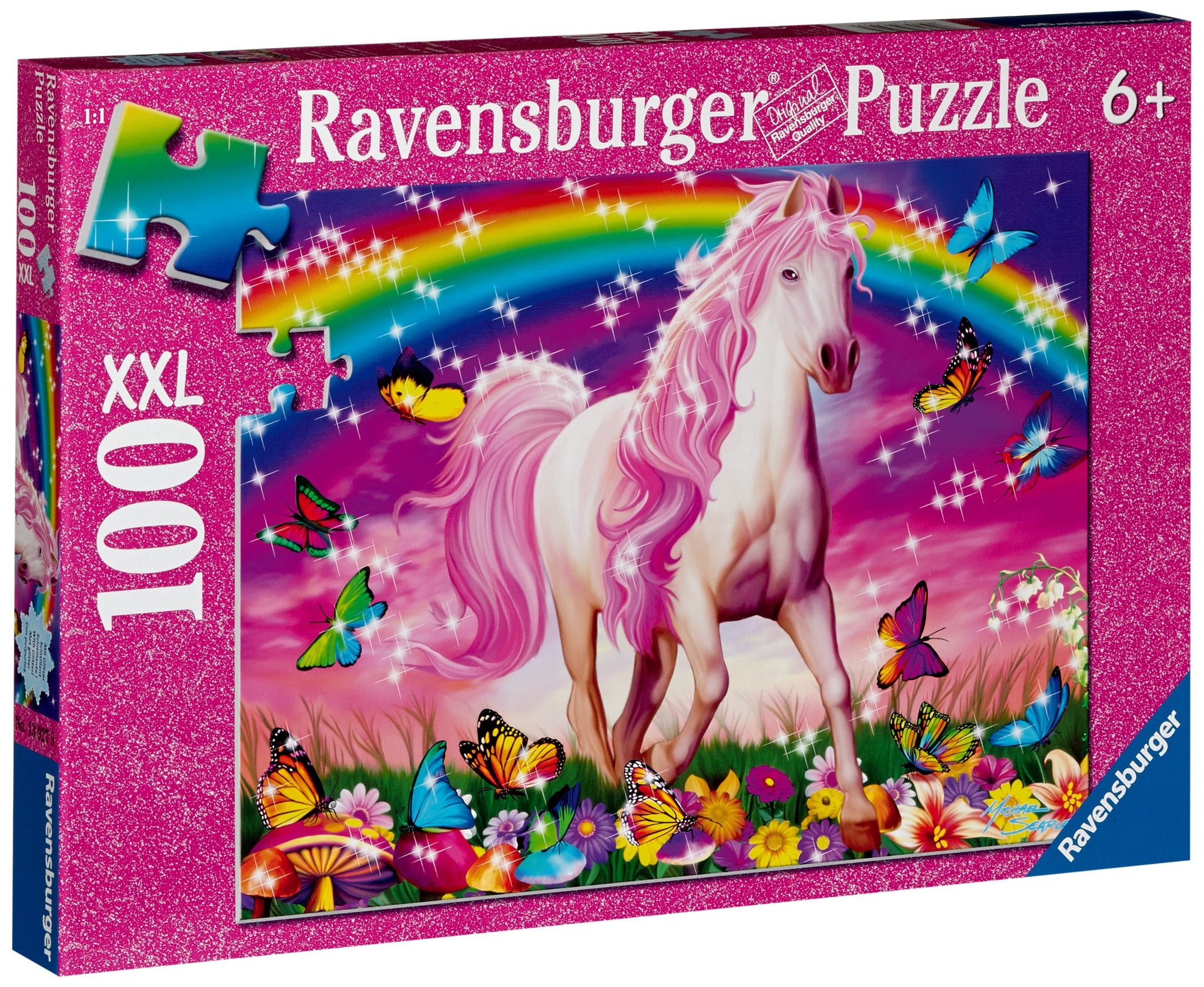 Ravensburger Children's Puzzles 100 pc Glitter Puzzles - Horse Dream 13927