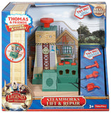 Fisher Price Thomas & Friends Wooden Railway, Steamworks Lift and Repair Train Set - Battery Operated CDK46