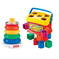 Fisher Price Baby's First Blocks and Rock-a-Stack® Bundle BJT80