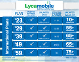 Lycamobile Triple Cut 4G LTE All-in-one Proloaded $45/plan Sim Card w/ Free Stylus Pen