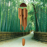 Woodstock 1/2 Coconut Bamboo Chime - Large C101