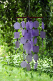 Woodstock Purple Capiz Chime with Wood Beads C716