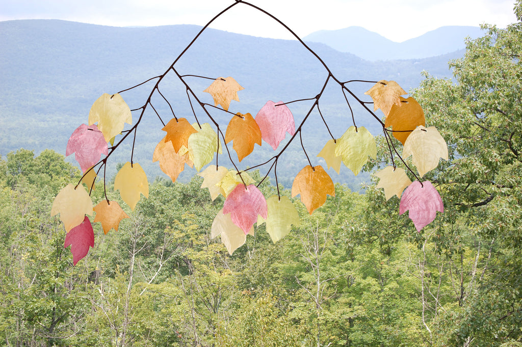 Woodstock Autumn Leaves Capiz Chime C721