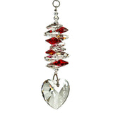 Woodstock Crystal Heart Cascade - Ruby CCHY