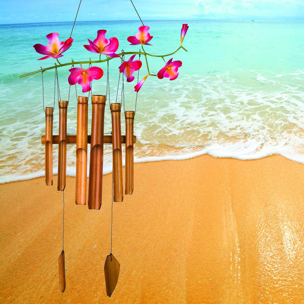 Woodstock Cherry Blossom Bamboo Chime CHERRY