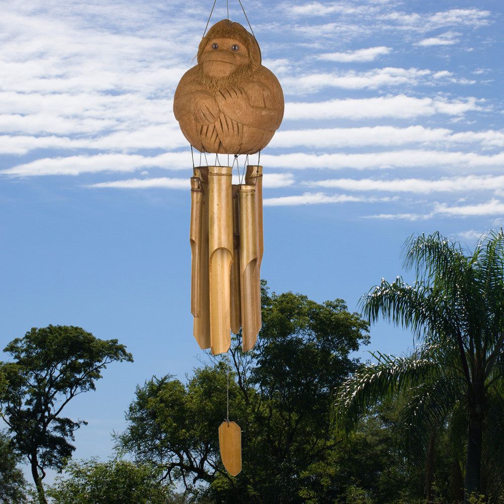 Woodstock Monkey Bamboo Chime CMO305