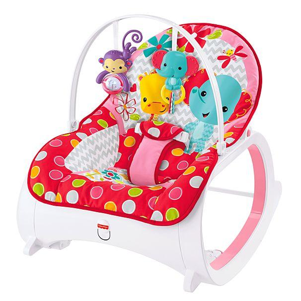 Fisher Price Infant-to-Toddler Rocker - Flowery Chevron CMR22