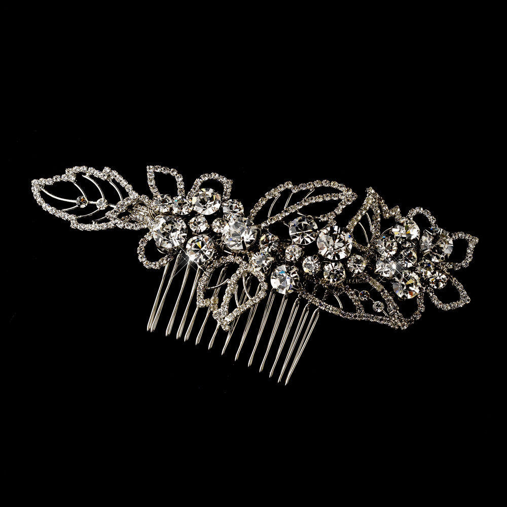 Antique Silver Comb 593