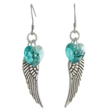 Woodstock Angel Wing Earrings - Blue Zircon CWBZ
