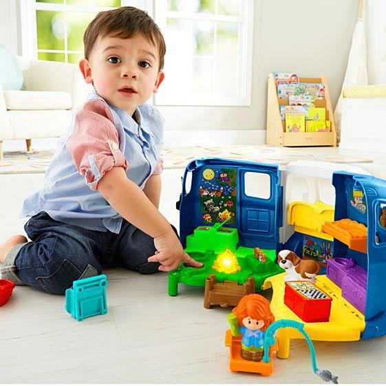 Fisher-Price Little People Songs and Sounds Camper Figures Eddie Fishing Boy New
