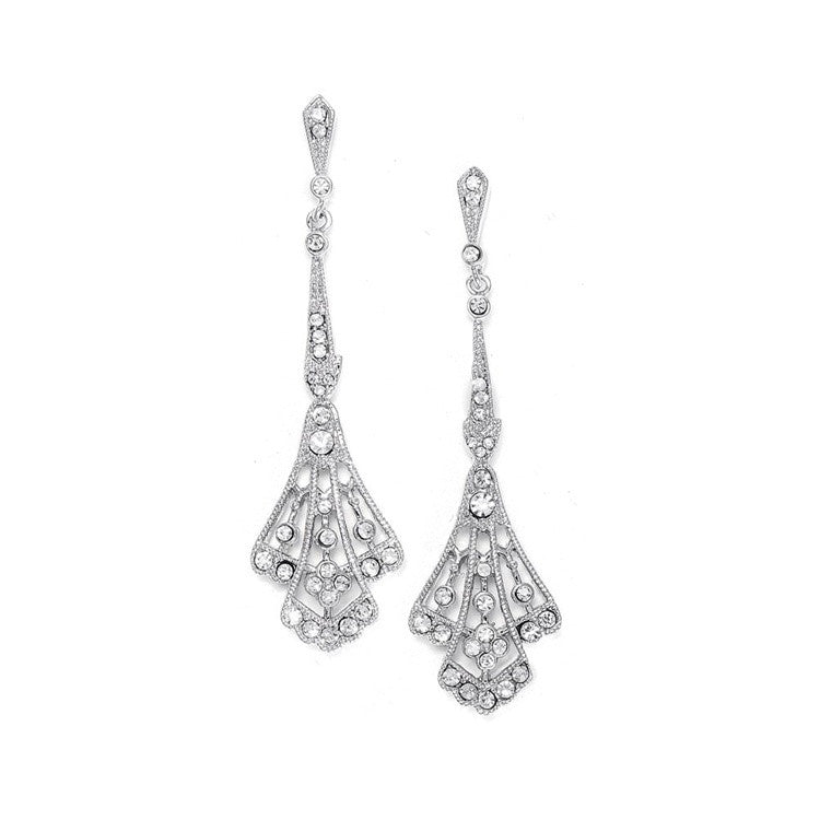 Cubic Zirconia Vintage Bridal Earrings E057
