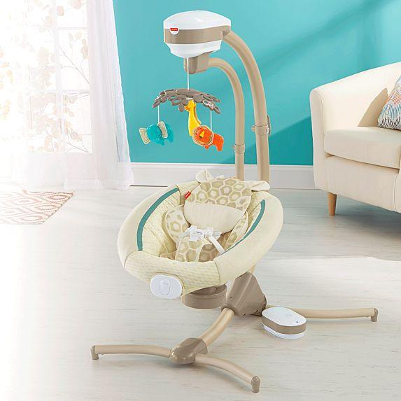 Fisher Price Soothing Savanna Cradle 'n Swing FDH43