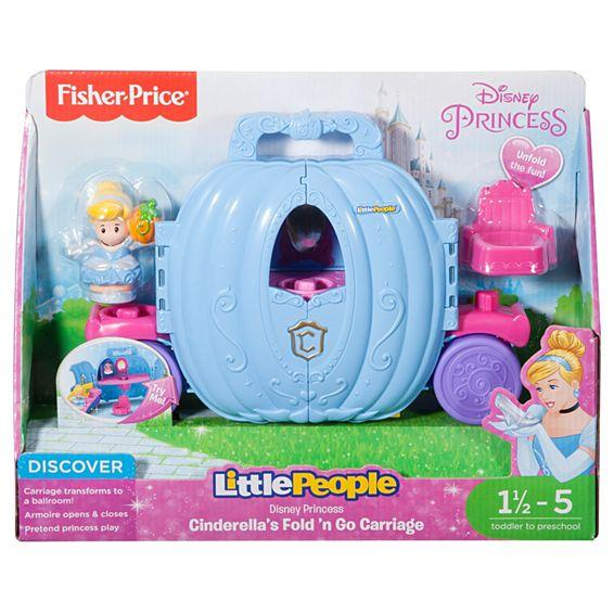 Fisher Price Disney Princess Cinderella's Fold 'n Go Carriage by Little People DTL66