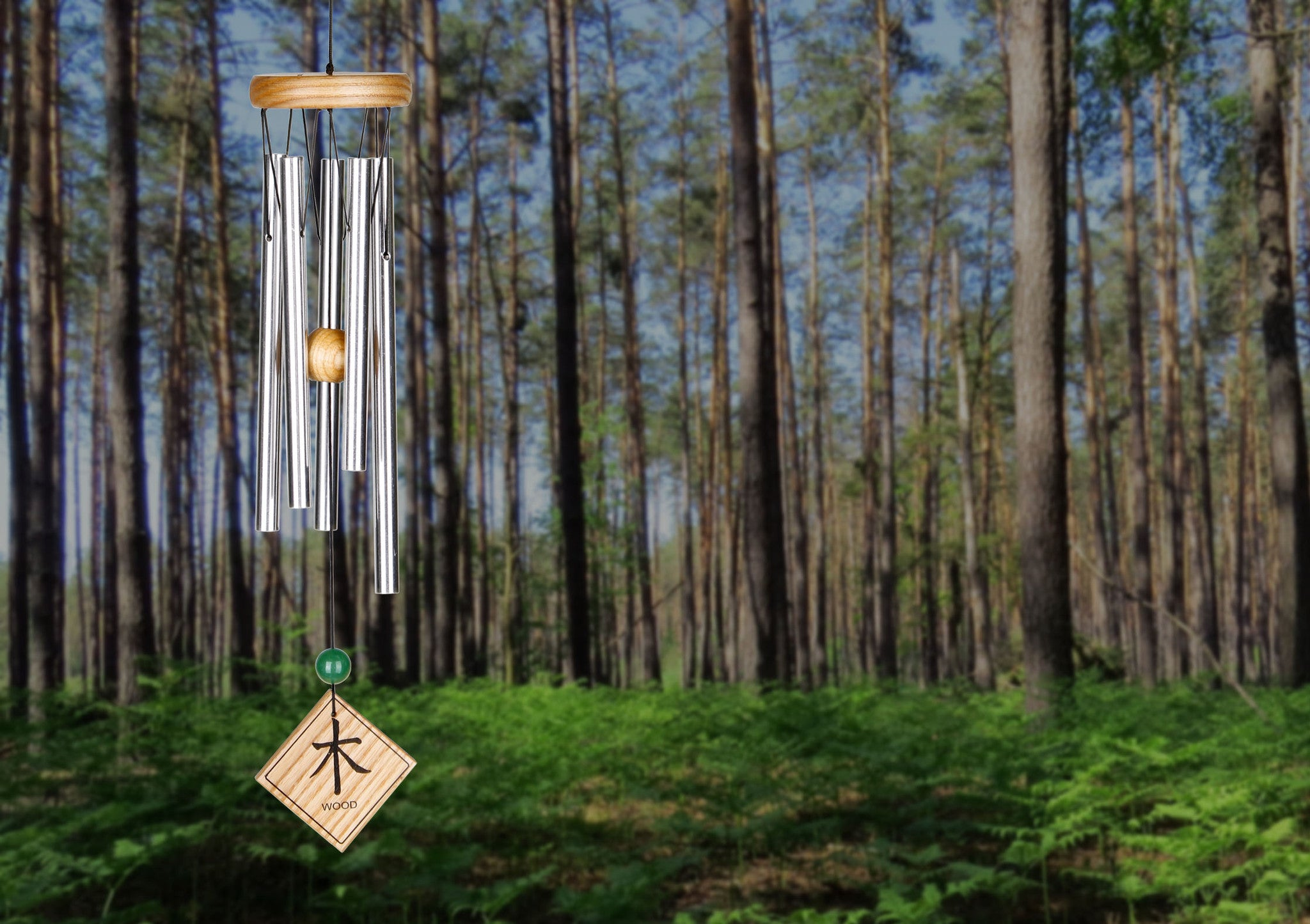 Woodstock Feng Shui Chime - Elements, Natural, Wood FSNWO
