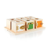 Guidecraft Peekaboo Lock Boxes Set of 6  G5058