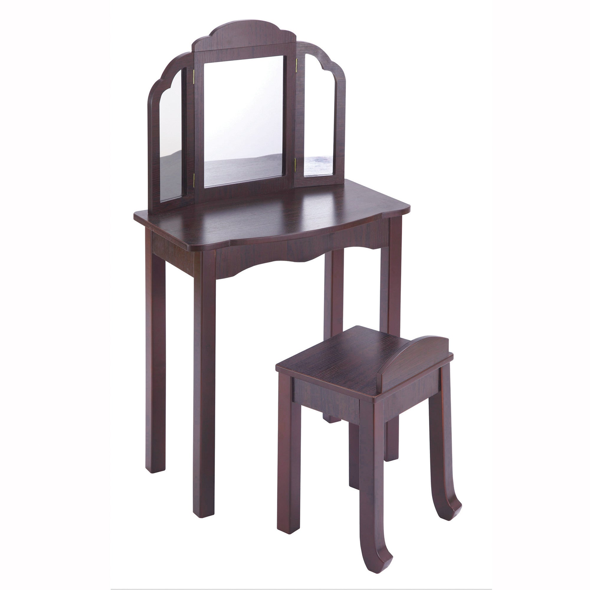 Guidecraft Expressions Vanity & Stool: Espresso G87304