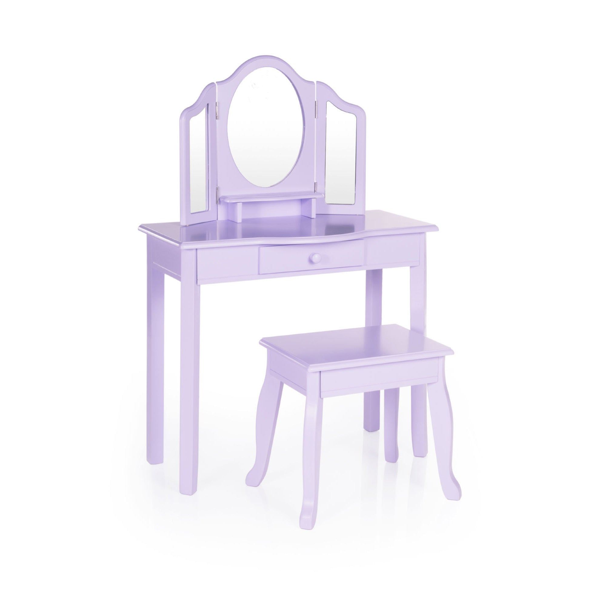 Guidecraft Vanity and Stool – Lavender  G87404