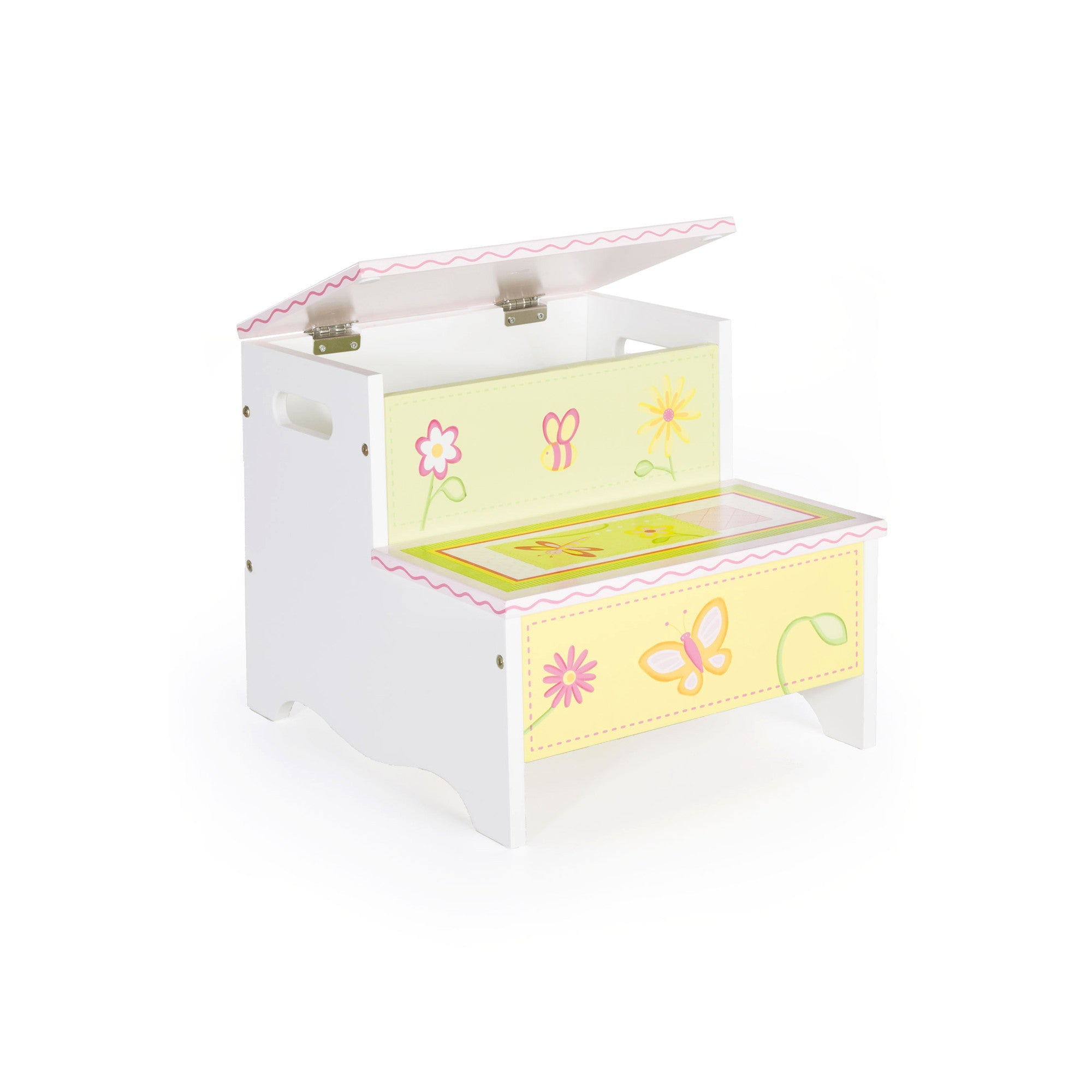 Guidecraft Gleeful Bugs Furniture Collection - Gleeful Bugs Storage Step-Up G88106