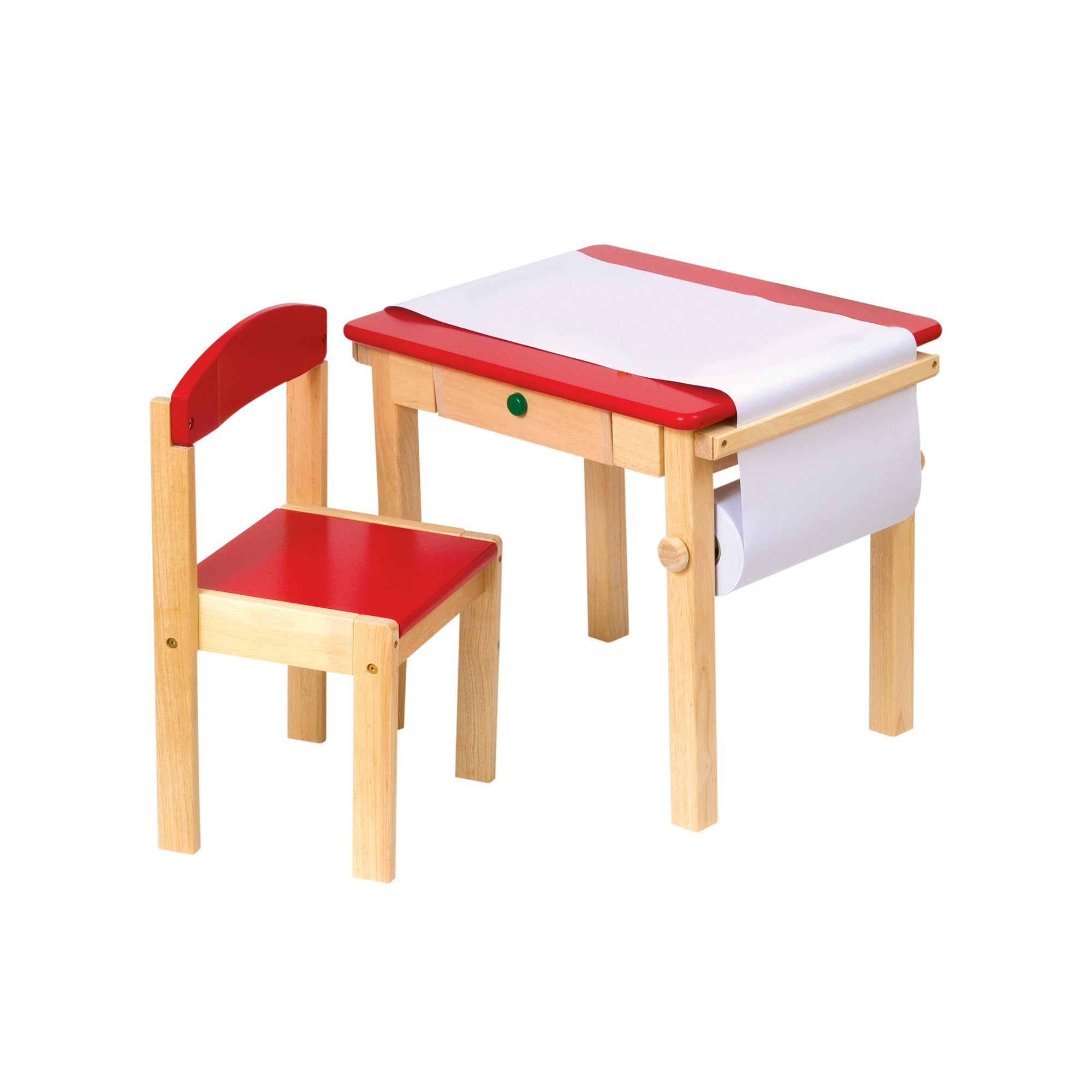 Guidecraft Art Table & Chair Set -Red G98049