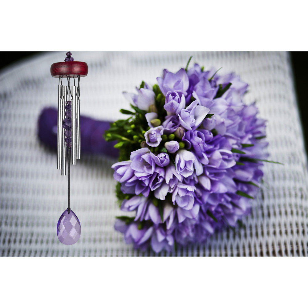 Woodstock Gem Drop Chime - Violet GEMVI